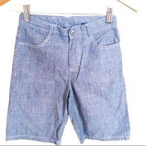 CALVIN KLEIN Denim Chambray Shorts Blue Boys Sz 8Y